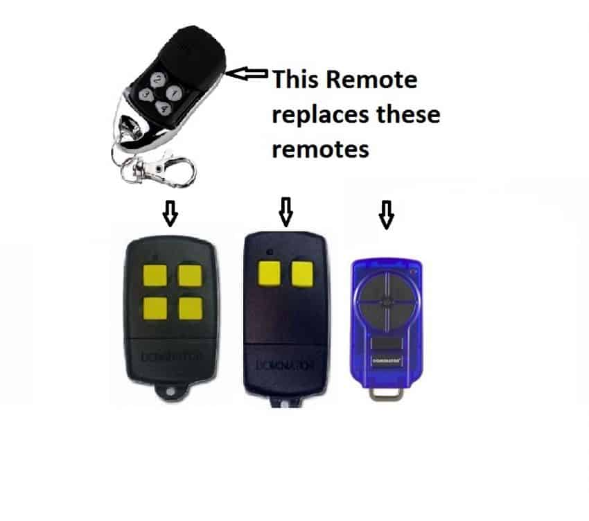 Dominator Remote Control Replacement Garage Door Restore