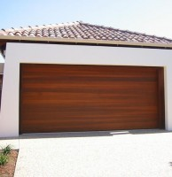 Real Cedar Sectional Garage Doors
