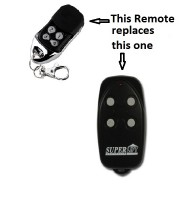 Superlift garage door remote control
