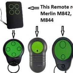 Merlin M842 garage remote