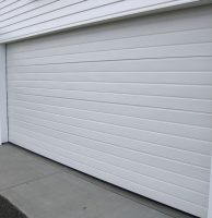 Ribline garage door in Colorbond Surfmist