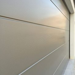 silver micro orb insulated garage door