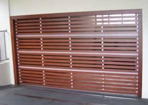 Biowood slat garage door