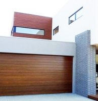 Biowood spotted gum garage door