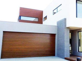 Biowood spotted gum garage door