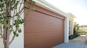 Colorbond classic cedar garage door