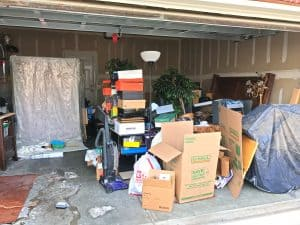 Garage not cleared